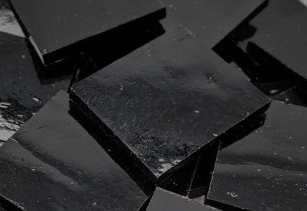 Black Opal  Stained Glass Mosaic Tiles - COE 90