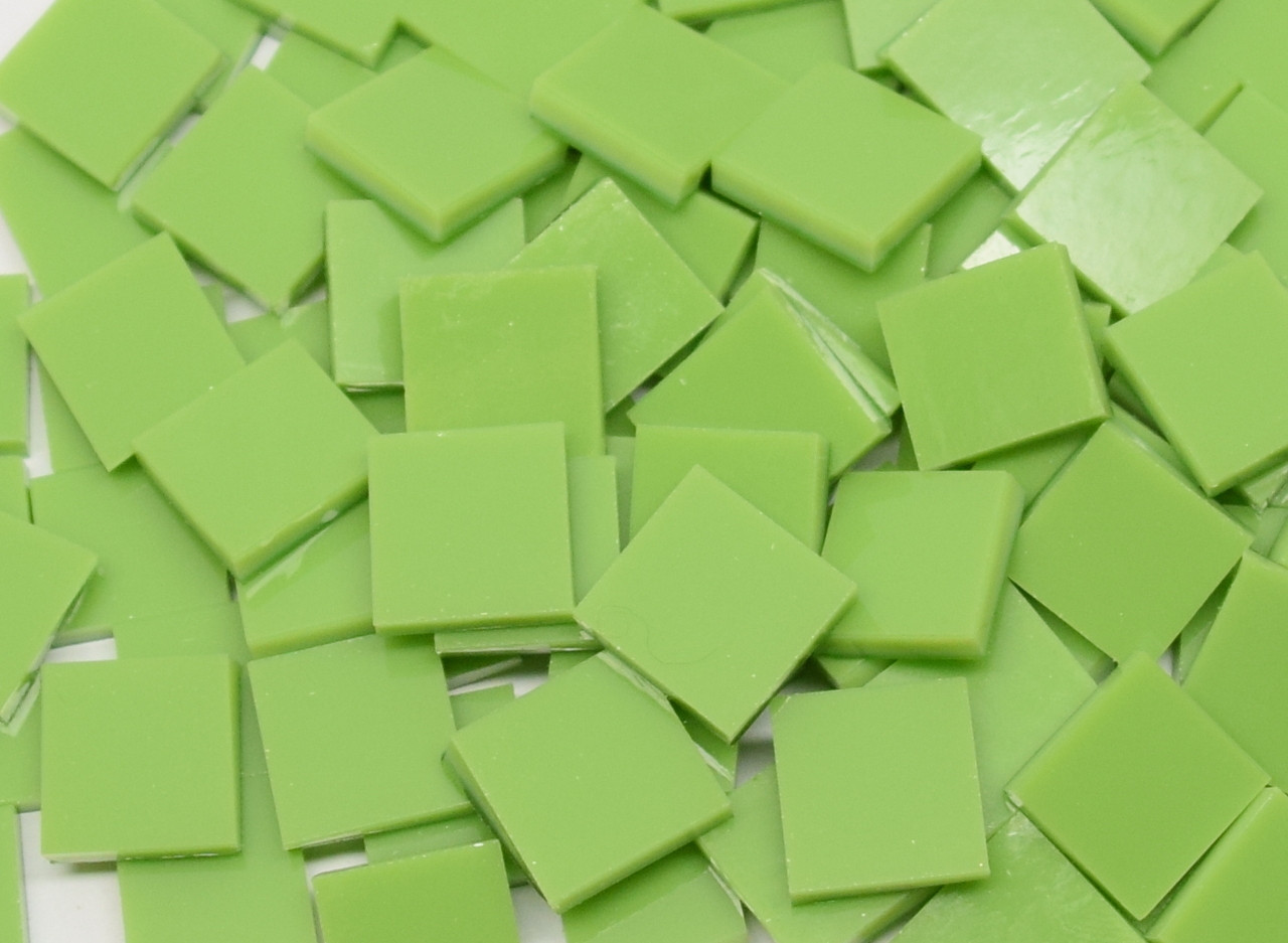 Amazon Green Opal Stained Glass Mosaic Tiles - COE 96