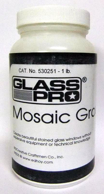 1 lb. Black Glass Pro Stained Glass Mosaic Grout