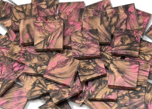 Fuchsia & Champagne Van Gogh Stained Glass Mosaic Tiles