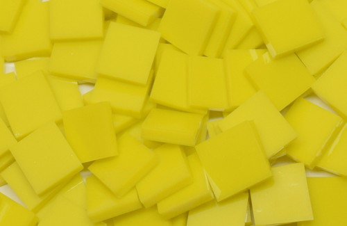 Lemon Yellow Opal Stained Mosaic Tiles - COE 96