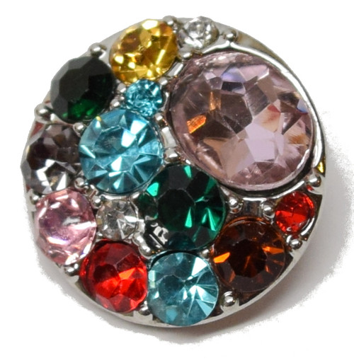 1 Rhinestone Rainbow Snap Button Embellishment