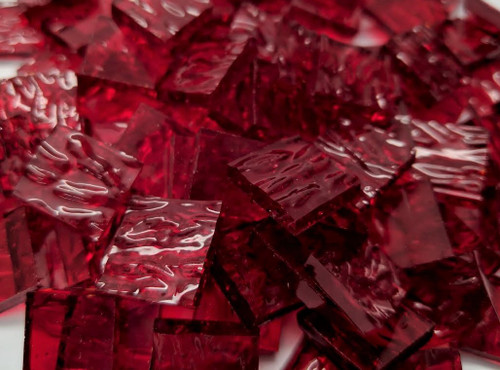 Cherry Red Granite Stained Glass Mosaic Tiles