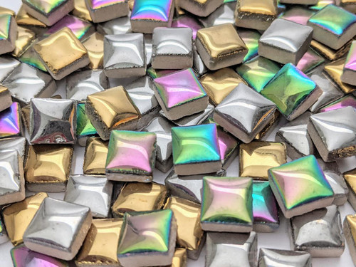 Metallic Ceramic Mini Tile Mix, 4 oz