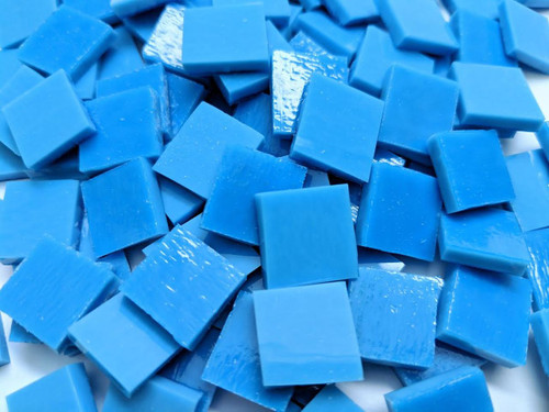 Reactive Blue Opal Stained Glass Mosaic Tiles COE 96