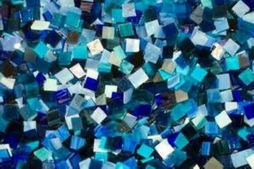 BULK DISCOUNT:  Blue Mix Stained Glass Mosaic Tiles