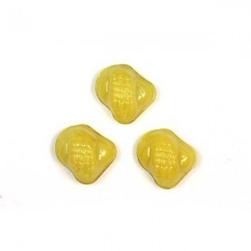 1 ELECTRIC YELLOW  PREMIUM GLASS SNAIL mosaic accent piece