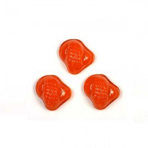 1 ELECTRIC ORANGE PREMIUM GLASS SNAIL mosaic accent piece