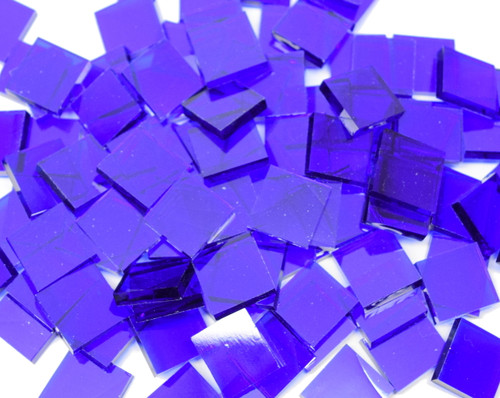 Blazing Blue Artique Handcut Stained Glass Mosaic Tiles