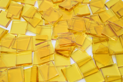 Yellow Cathedral Stained Glass Mosaic Tiles, COE 96