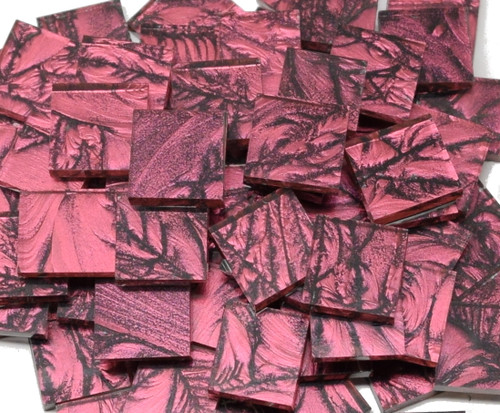 Fuchsia Van Gogh Stained Glass Mosaic Tiles