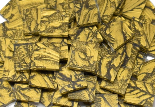 Gold Van Gogh Stained Glass Mosaic Tiles