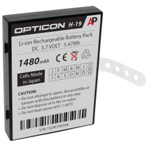 Opticon H-19 Scanner: Replacement Battery. 1480 mAh