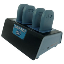 Transformer 4-Bay Battery Charger for Ascom d62 and i62 Batteries.  Micro-USB Power Supply Included