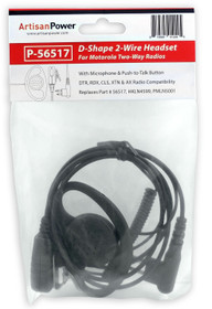 Artisan Power P-56517: D-Shape 2-Wire Headset for Motorola CLS1410 and CLS1100 2-Way Radios: PMLN5001, HKLN4599, 56517