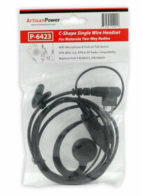 Artisan Power P-6423: C-Shape Single Wire Headset for Motorola CLS1410 and CLS1100 Radios: RLN6423, HKLN6423, HKLN4604