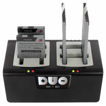 Duo 4-bay Battery Charger for Cisco 8821 and 7925 batteries. Power Supply included
