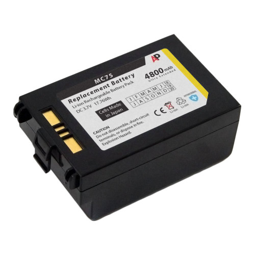 Motorola / Symbol MC75 & MC70 Series: Replacement Battery. 4800 mAh Ultra Extended Capacity