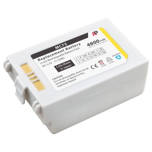 Motorola / Symbol MC75 & MC70 Series: White Replacement Battery. 4800 mAh Ultra Extended Capacity