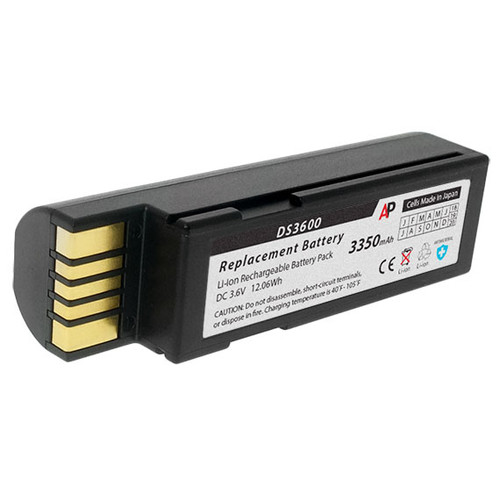 Zebra 3600 Series Scanners (DS3678, LI3678, LS3678). Replacement Battery. 3350 mAh