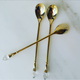 gold petite spoons for mask mixing