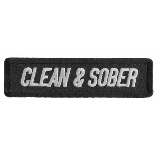 Forever And Always carries Biker Patches Clean & Sober