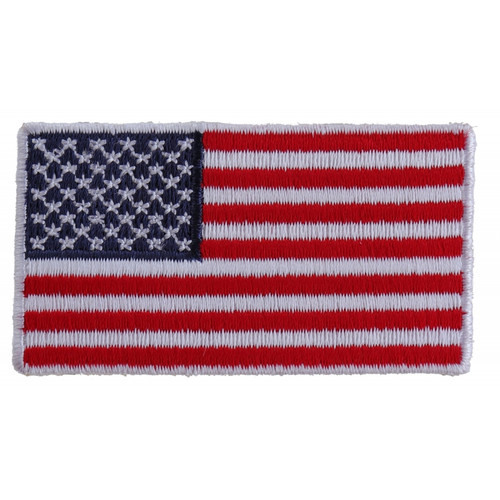 Forever And Always Carries American Flag with white border 2.5 x 1.25 Patches