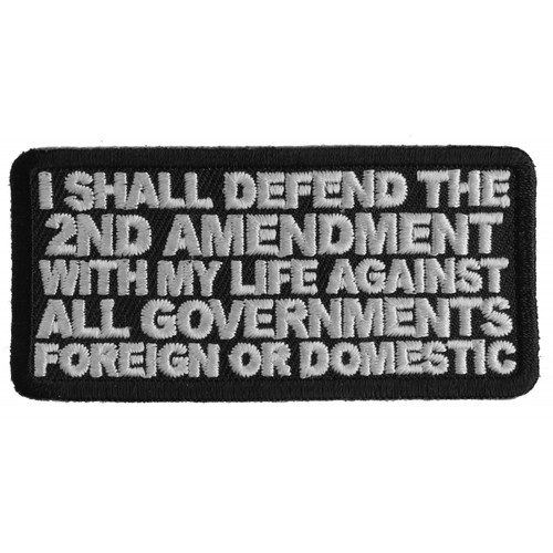 Forever And Always carries Biker Patches;Biker Patches/Veteran - Patriotic Patches I shall defend the Second
