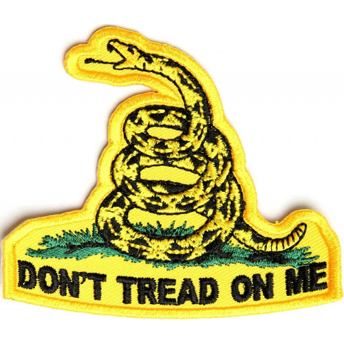 Forever And Always carries Biker Patches;Biker Patches/Veteran - Patriotic Patches Don't Tread On Me outlined