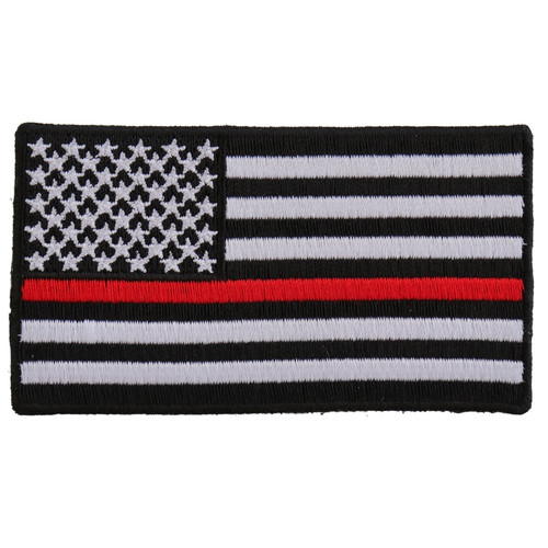 Forever And Always carries Biker Patches;Biker Patches/Veteran - Patriotic Patches Thin Red Line American Flag
