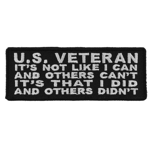 Forever And Always Carries US Veteran 4 x 1.5 Patches