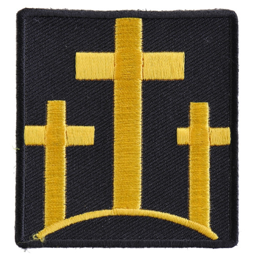 Forever And Always Carries Three Yellow Crosses on black 0 x 0 Patches