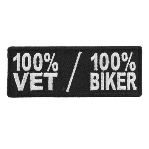 Forever And Always Carries 100% VET 100% BIKER 4 x 1.5 Patches