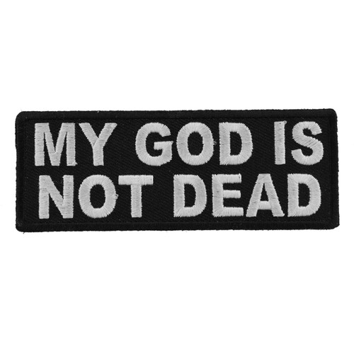 Forever And Always carries Biker Patches;Biker Patches/Christian Biker Patches My God is Not Dead