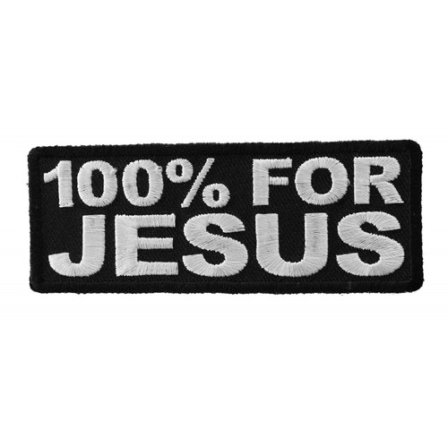 Forever And Always Carries 100% For Jesus 4 x 1.25 Patches