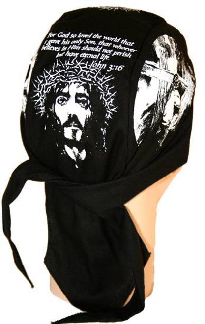 Forever And Always carries Christian Biker Du Rags (Skull Caps, Doo Rags) John 3:16 by Christian Du Rags