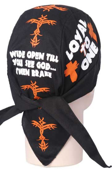 Forever And Always carries Christian Biker Du Rags (Skull Caps, Doo Rags) Loyal To One - Wide Open Till You See God then brake by Christian Du Rags