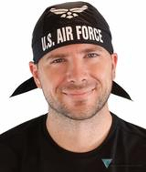 Front view of American Made AIR FORCE du rag (skull caps, doo rags) from Forever And Always in Farmerville, LA.