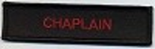 Forever And Always Carries Chaplain Patch Black With Red Letters 4 x 1 Patches