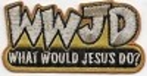 Forever And Always carries Biker Patches;Biker Patches/Christian Biker Patches WWJD Patch
