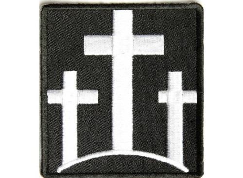 Forever And Always Carries Three Crosses white 0 x 0 Patches