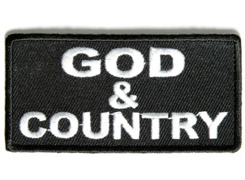 Forever And Always Carries God  Country 3 x 1 Patches