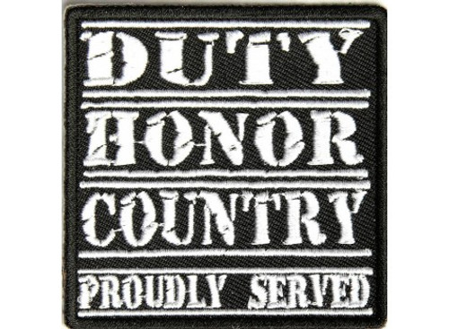 Forever And Always carries Biker Patches Duty Honor Country Proudly Served