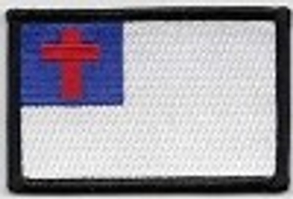 Forever And Always carries Biker Patches Christian Flag with Black Border Patch