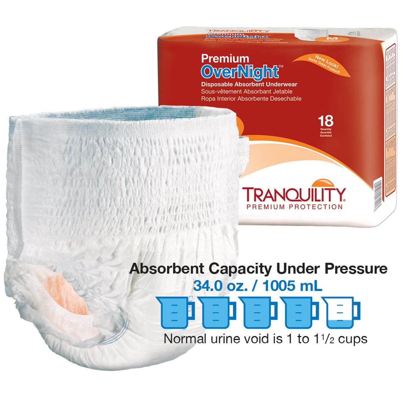 Tranquility Premium Overnight Underwear Disposable