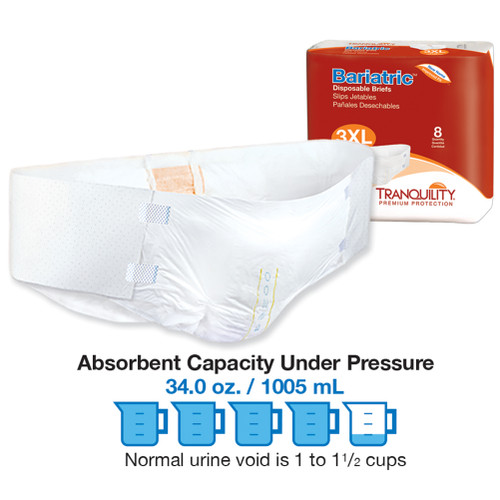 Tranquility® Bariatric Disposable Brief