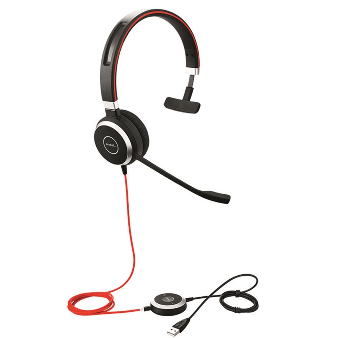 Jabra Evolve 40 Ms Mono Usb Headset W Integrated Busy Indicator 6393 823 109