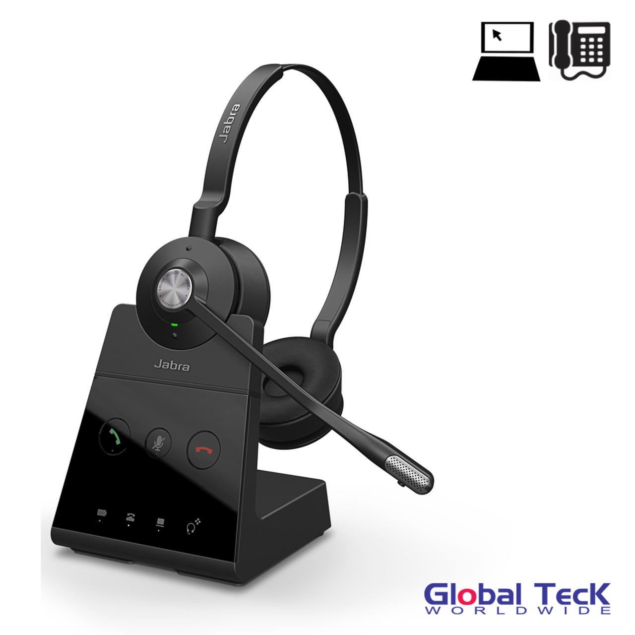 Jabra Engage 65 Wireless Stereo Headset Pc Usb Skype For Business Certified 13