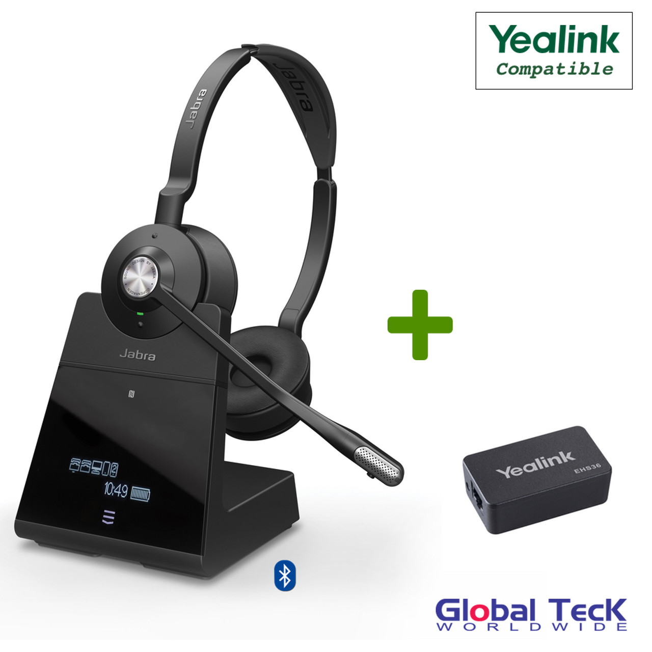Yealink Compatible Jabra Engage 75 Wireless Headset Bundle With Ehs Adapter Sip Ip T Series