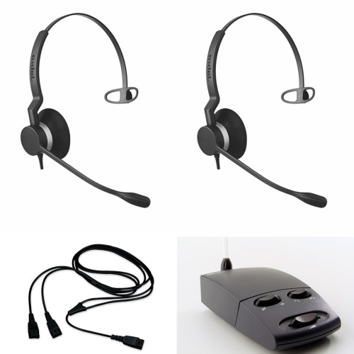 Microsoft Teams Monaural USB Training Microsoft Certified Supervising and Coaching Headset Bundle 2 Users